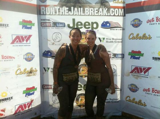 I ran a 5K mud run in Texas!