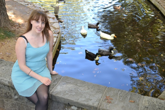 The ducks on the square where we were married one year ago!